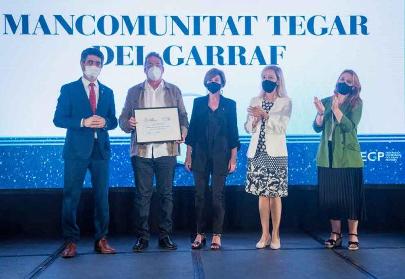 La Federació d'Empresaris del Gran Penedès va fer entrega d'un reconeixement a Tegar per la seva trajectòria de 50 anys
